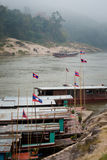 Cruise ship in Laos Pakbeng Stock Images