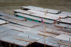 Cruise ship in Laos Pakbeng Royalty Free Stock Photography