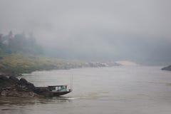Cruise ship in Laos Pakbeng Royalty Free Stock Photos