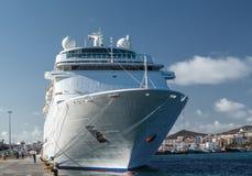 Cruise ship. Las Palmas de Gran Canaria. The Canary Islands. Spain Royalty Free Stock Photos
