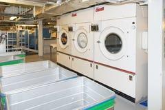 Cruise ship laundry Royalty Free Stock Image