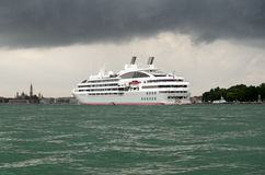 Cruise Ship Le Lyrial at Venice Royalty Free Stock Photos
