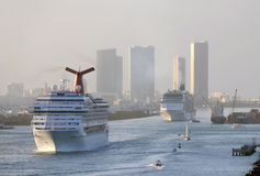Cruise ship leaving Miami Stock Photo