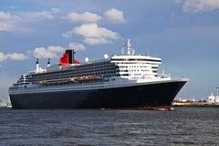 Cruise ship leaving Port of Rotterdam Stock Photos