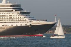 Cruise ship leaving port of Southampton UK Stock Photos