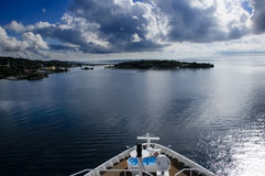 Cruise Ship Leaving Roatan Stock Photos