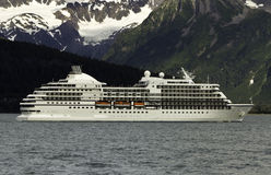 Cruise ship leaving Seward Royalty Free Stock Photo