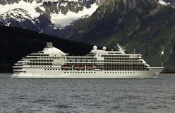 Cruise ship leaving Seward royalty free stock photo