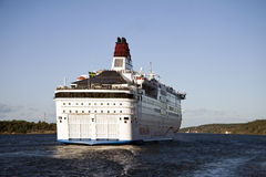 Cruise Ship leaving Stockholm Royalty Free Stock Photography
