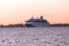 Cruise ship leaving Venice Royalty Free Stock Photos