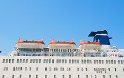 Cruise Ship Lifeboats. Stock Images