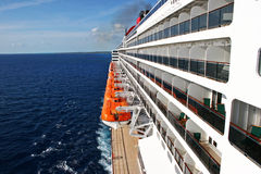 Cruise Ship with Lifeboats. At sea Royalty Free Stock Images