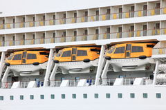 Cruise Ship Lifeboats Royalty Free Stock Image