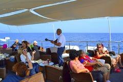 Cruise ship bouzouki  party Royalty Free Stock Photography