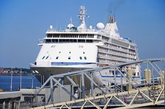 Cruise Ship, Liverpool. Stock Images
