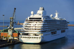 The cruise ship in Livorno port Royalty Free Stock Photo