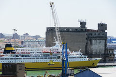 The cruise ship in Livorno port Royalty Free Stock Photography