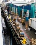 Cruise Ship Loading Dock Stock Images
