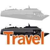 Cruise ship logo element Royalty Free Stock Photography