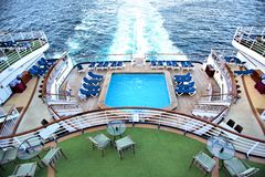 Cruise ship. Looking down from the top deck of a cruis ship Royalty Free Stock Photos