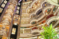 Cruise ship luxury interior stock photography