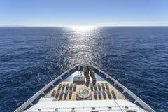 Cruise ship. Luxury cruise ship at sea Stock Photo