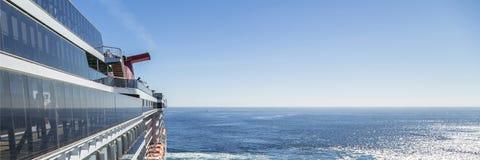 Cruise ship. Luxury cruise ship at sea, panorama Stock Image