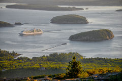 Cruise ship in Maine Royalty Free Stock Photos