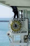 Cruise ship maintenance Royalty Free Stock Photography