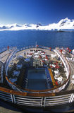 Cruise ship Marco Polo rear deck, Antarctica Stock Photo