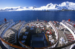 Cruise ship Marco Polo rear deck, Antarctica Royalty Free Stock Photography