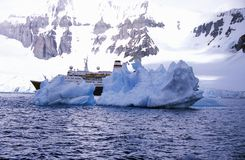 Cruise Ship Marco Polo With Glaciers And Icebergs In Errera Channel At Culverville Island, Antarctica Royalty Free Stock Photo