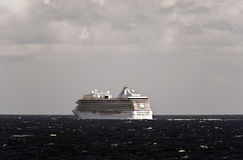 Cruise ship Marina in the North Sea. stock images