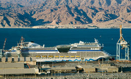Cruise ship in marine port of the Red Sea Stock Photography