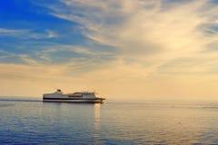 Cruise ship in Mediterranean Sea Stock Photos