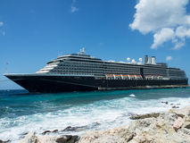 Cruise ship at the Mega Pier. Views around Punda old City  Willemstad Curacao Caribbean Royalty Free Stock Photography