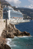 Cruise Ship at Monaco Royalty Free Stock Image