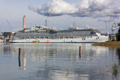 Cruise Ship in Monfalcone Shipyard Royalty Free Stock Photography