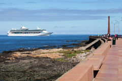Cruise Ship, Montevideo Royalty Free Stock Photography