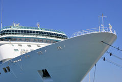 Cruise ship moored Stock Images