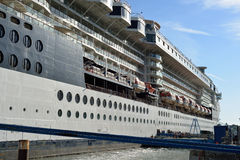 Cruise ship moored at cobh Royalty Free Stock Images