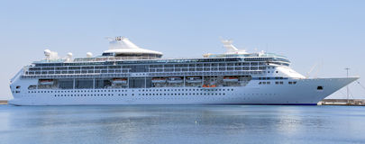 Cruise ship moored in the harbor Stock Photography