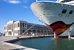 Cruise ship moored at maritime station of Trieste Stock Image