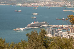 Cruise Ship Moored At Port Stock Photo