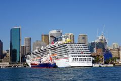Cruise Ship Moored in Sydney Harbour Royalty Free Stock Photography