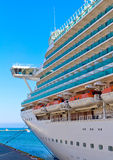 Cruise ship mooring Stock Photos
