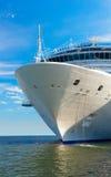 Cruise ship mooring. Large white mooring cruise ship Royalty Free Stock Photography