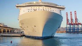 Cruise ship mooring in Malaga. Allure of the seas stock video footage