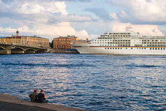 Cruise ship MS Europa in Saint Petersburg Royalty Free Stock Photos