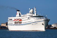 Cruise ship MS Ocean Majesty. Leaving the port of Felixstowe in Suffolk, England, UK Stock Photography
